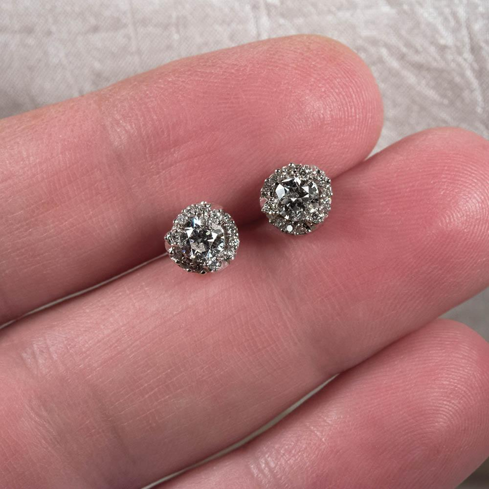 Roll Over Large Image To Magnify, Click Large Image To Zoom Change  Background Expand Description Gorgeous 115ctw Natural Diamond Stud  Earrings