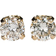 .77ctw Natural Diamond Solitaire Stud Earrings 14k Gold Diamond Studs