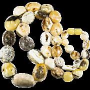 Natural Egg Yolk Baltic Amber Polished Nugget Necklace