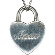 Vintage Tiffany Opening Heart Lock Original Chain 925 Sterling Silver Mom Heart Necklace