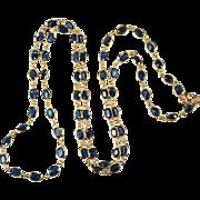 Bezel Set Sapphire Gemstone Chain 14k Gold Sapphire By The Yard Chain