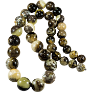 Natural Amber Fossil Baltic Egg Yolk Yellow Green Mixed Amber Necklace Beaded