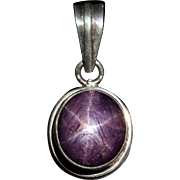 Huge 22ctw Natural Ruby Star Sapphire Pendant 925 Sterling Pink Star Sapphire