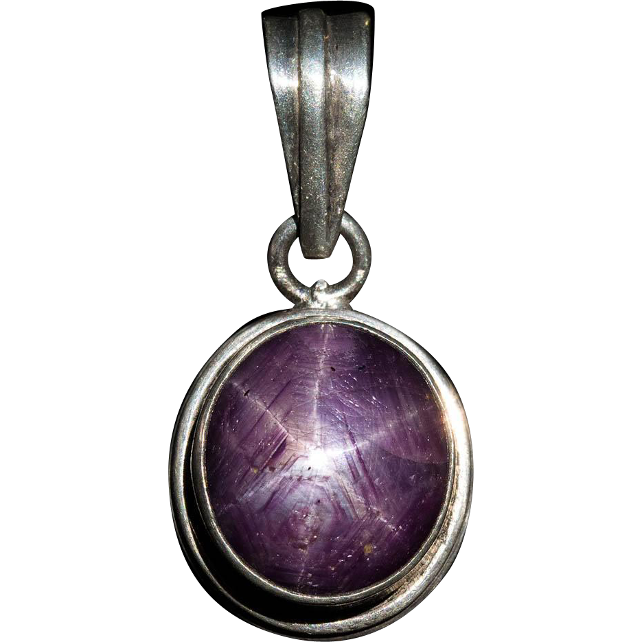 Huge 22ctw natural ruby star sapphire pendant 925 sterling pink star huge 22ctw natural ruby star sapphire pendant 925 sterling pink star tanyas treasures ruby lane mozeypictures Choice Image