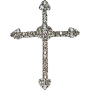 Natural Diamond Cross Pendant 14k Gold Diamond Pendant