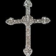 Natural Diamond Cross Pendant .93ctw 14k Gold Diamond Pendant