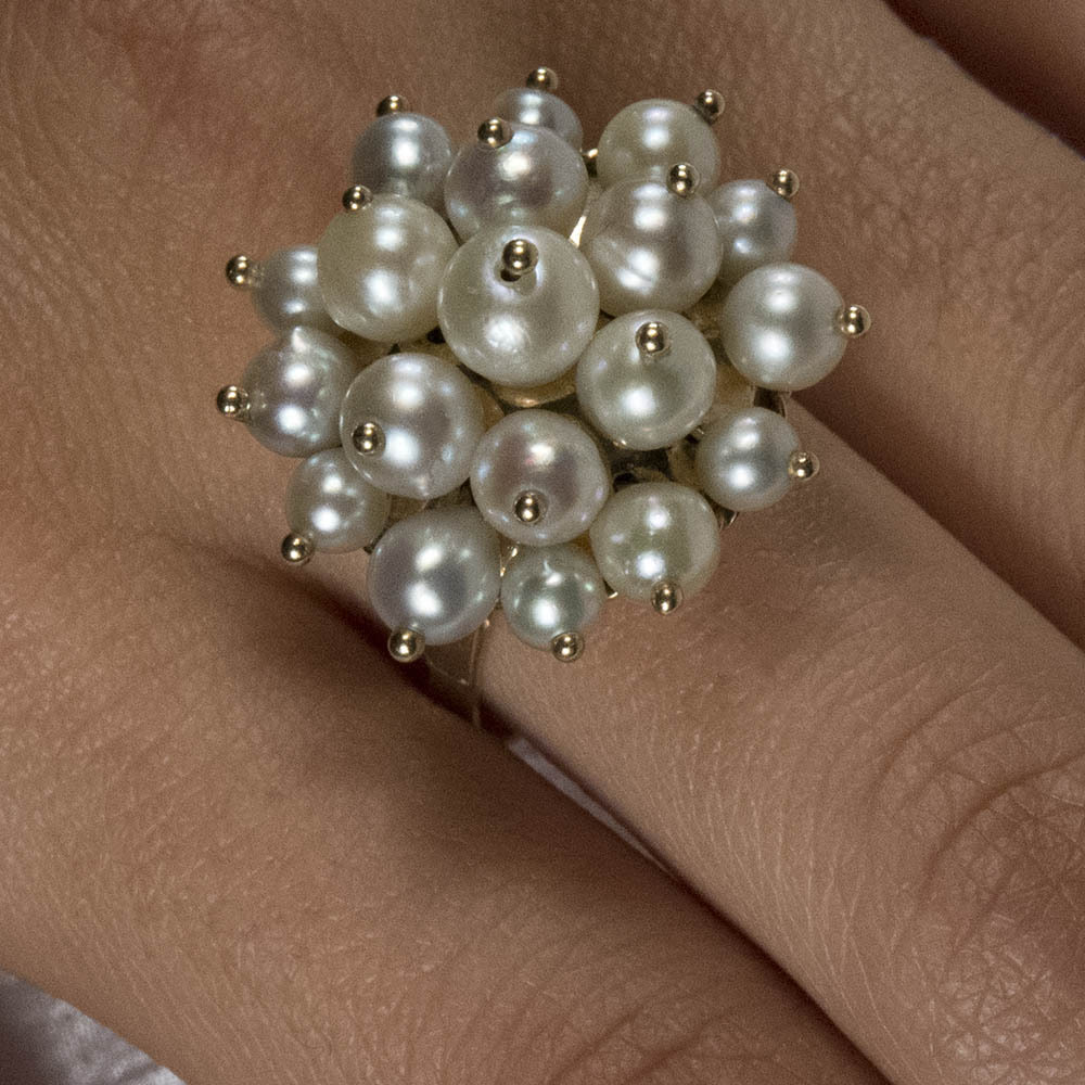 magical art deco moving cultured baroque pearl 14k gold ring from rubylane sold on ruby lane. Black Bedroom Furniture Sets. Home Design Ideas