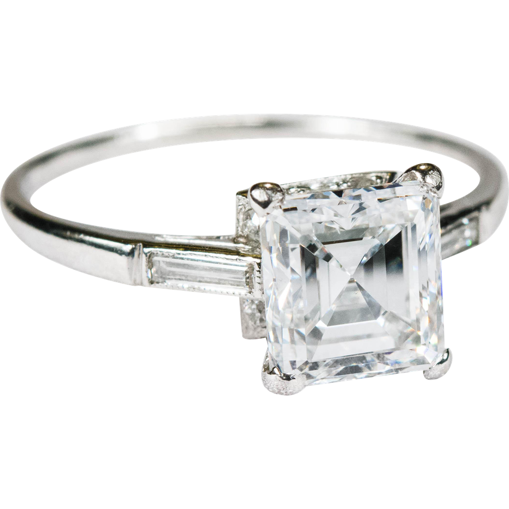 rings modern engagement wedding cut diamond asscher promise