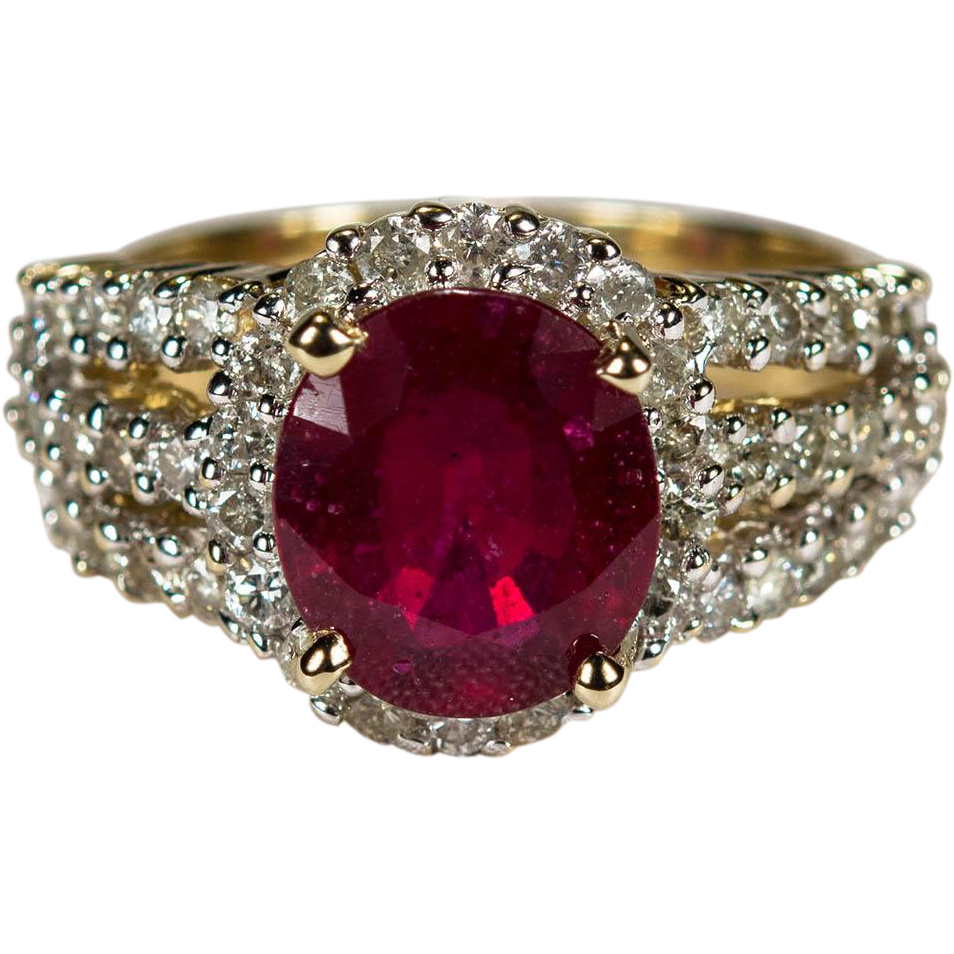 Antique Ruby Solitaire Ring