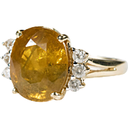 Yellow Sapphire Diamond Ring 10ctw 14k Gold Fancy Yellow Sapphire Ring