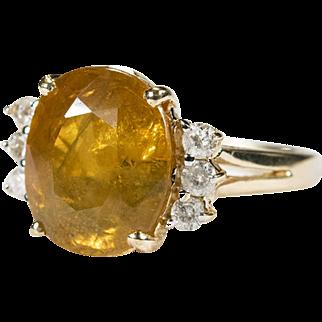 Yellow Sapphire Diamond Ring 10ctw 14k Gold Fancy Yellow Sapphire Ring