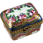 Carnival Of Color Limoges Hand Painted Trinket Box