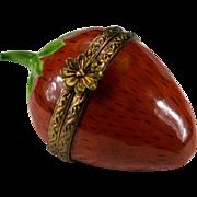Limoges Strawberry Trinket Box