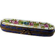 Limoges France Trinket Box Pin Box Peint Main Large Trinket