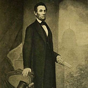 1907 Antique President Portrait 'Abraham Lincoln' Fine Art - Gravure Print, White House, History RARE