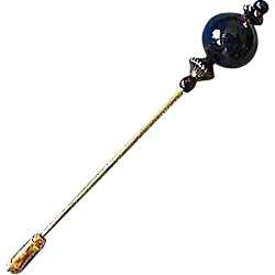 Stunning Blue Venetian Art Glass Stick Pin, RARE 1940's Aventurina Venetian Bead, Hat Pin