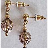 Stunning Art Deco Czech Art Glass Earrings, RARE 1920's Czech Glass Beads