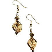 Fabulous Aventurina Venetian Art Glass Earrings