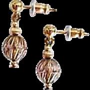STUNNING Art Deco Czech Art Glass Earrings, RARE 1930's Czech Glass Beads, Art Deco Beads