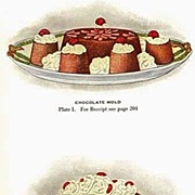 1921 'Lowney's Cookbook' Lithograph Illustrations, Advertising, Chocolate, Maria Willet Howard