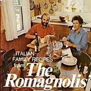 RARE 1975 'The Romagnolis' Table' w/ DJ – Italian Cookbook / Restaurant