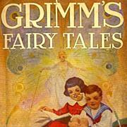 SCARCE 1924 Vintage 1st Ed 'Grimm's Fairy Tales' w/ DJ  - EDWIN JOHN PRITTIE Illustrations