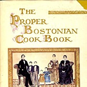 SIGNED 1st Ed 'The Proper Bostonian Cook Book' w/ DJ - Helene Sherman Illustrations / SCARCE / History / Vintage