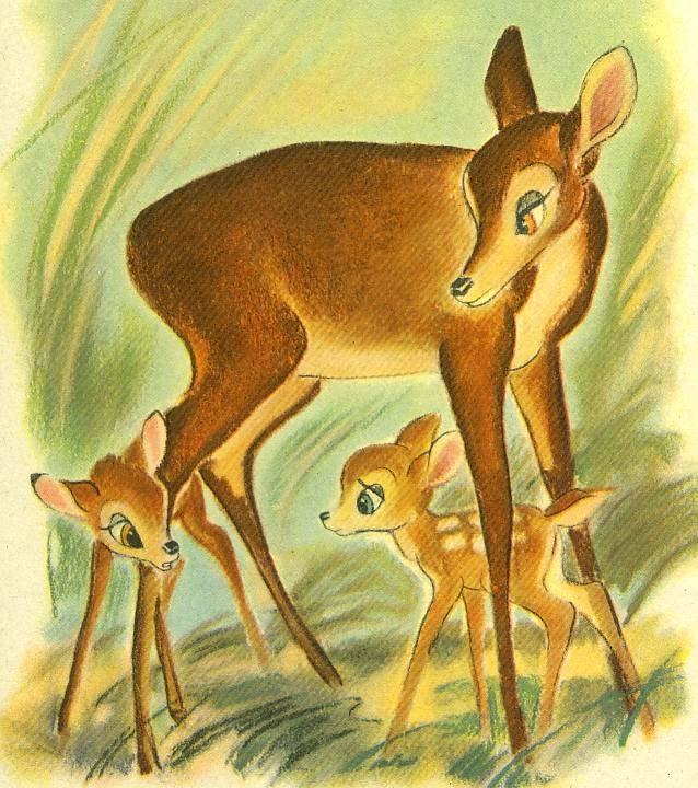 1941 'Walt Disney's' Bambi, Lithograph Illustrations, 1st Ed, SCARCE, Felix Salten, Vintage, Art