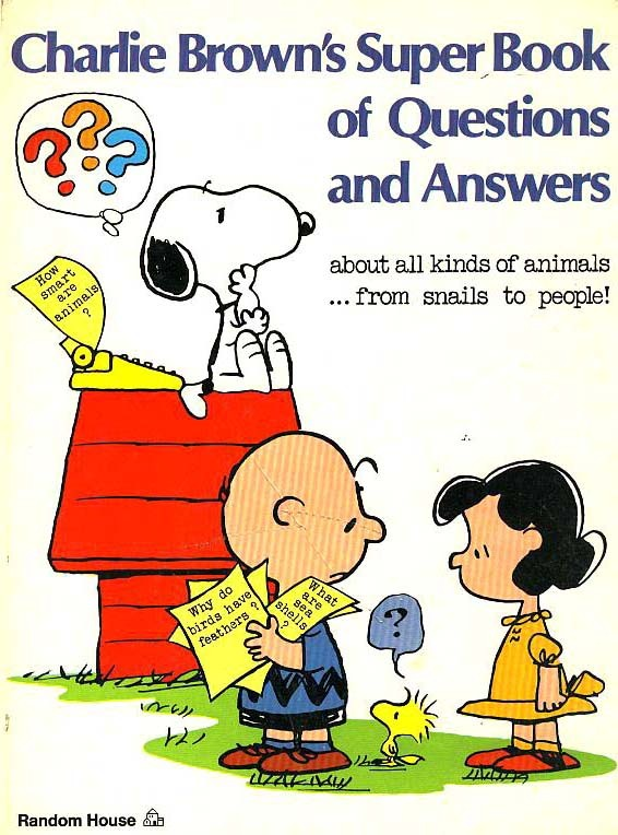 CHARLIE BROWN'S 1970's Super Book Questions & Answers - Comic Strips / Snoopy / Animation /  Cartoons