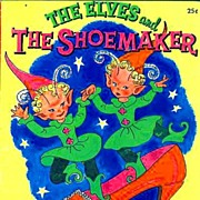 "1958 1 st Ed ""The Elves and the Shoemaker"" Fairy Tale - RARE / Illustrated / Tell-A-Tale #2558 / Vintage / Fantasy"
