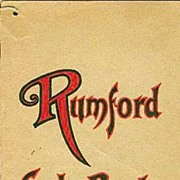 "SCARCE 1920's Fannie Farmer ""Rumford Cook Book ""Cover ILLUSTRATIONS Advertising / Antiquarian / Recipes"