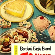 SCARCE 1952 'Borden's Eagle Brand 70 Magic Recipes' - Illustrated Cookbook / Advertising / Elsie the Cow /  Vintage