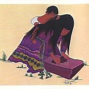 1973 American Indian Cooking & Herb Lore Cookbook, 1st Ed, Illustrated, Herbal Medicine, Cherokee