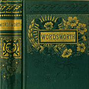 1880's `William Wordsworth' Poetry, Memoir, Collector's – Victorian Decorated Gilt Cover, Portrait, Antiquarian