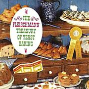 1962 Fleischmann Treasury of Yeast Baking Cookbook - Illustrated / Advertising / Vintage / Bread