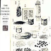 Irene Kuo 'The Key to Chinese Cooking' DJ, 1977 1st Ed, 1st Print, Out-Of-Print