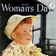 Woman's Day Magazine April 1950 – Paris Fashion Sweaters / Betty Grable Lux Advertisement