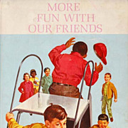 RARE 1965 Dick and Jane Reader 'More Fun With Our Friends' - Scott, Foresman / Introduces African American