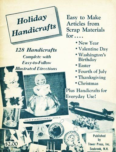 SCARCE 1966 1st Ed 'Holiday Handicrafts' Crafts - Decorations, Christmas, Scrap, Dolls, Stuffed Toys, Vintage