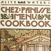1982 1st Ed 'Chez Panisse Menu Cookbook' DJ, Alice Waters -  San Francisco Restaurant, Entertaining, Celebrity Chef