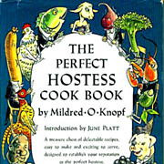 1950 1st Ed `The Perfect Hostess Cook Book' DJ – Entertaining, Hollywood, New York, Party Planning