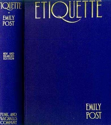 1927 Emily Post 'Etiquette' The Blue Book of Social Usage - RARE Unclipped DJ, Illustrated, Entertaining