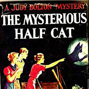 Judy Bolton 'The Mysterious Half Cat' DJ, Early Printing - Vintage Green Hardcover, Mystery Series