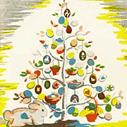 RARE 1950 'The Egg Tree' 1st Ed, DJ, Easter Holiday, Katherine Milhous Folk Art, Caldecott Medal, Vintage