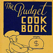 1935 'The Budget Cookbook' 1st Ed, Regional Cooking, Entertaining - Ida Bailey Allen, Advertising, Nutrition