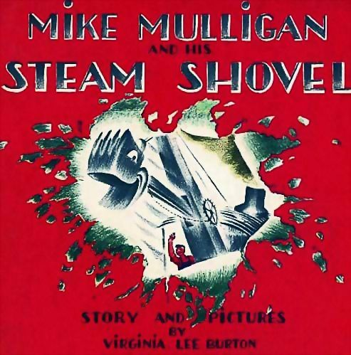1967 'Mike Mulligan And His Steam Shovel' Scarce DJ - Virginia Lee Burton, Vintage, Picture Book