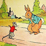 1927 'Peter Rabbits Holiday' RARE 1st Ed, Illustrated, Altemus - Wee Books for Wee Folks Series, Out-of-Print