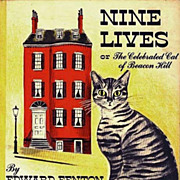 1951 'Celebrated Cat of Beacon Hill', RARE 1st Ed, Lithograph Illustrations, Boston