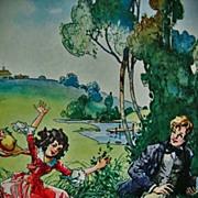 1949 'Jo's Boys' Louisa May Alcott, 1st Ed, DJ, Louis Jambor llustrations - Red Tag Sale Item