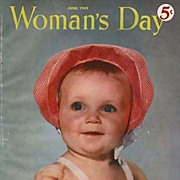 June 1949 Woman's Day Magazine. Advertising, American Quilts, Home Décor, Baby Cover